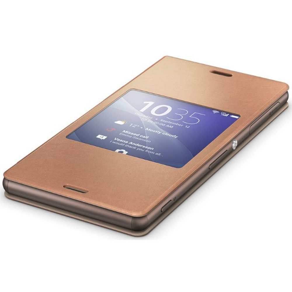low priced ee49f 271a8 Flip Cover for Sony Xperia Z3+ Copper