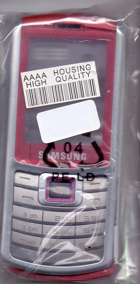 Full Body Housing for Samsung S3310 Red with Silver