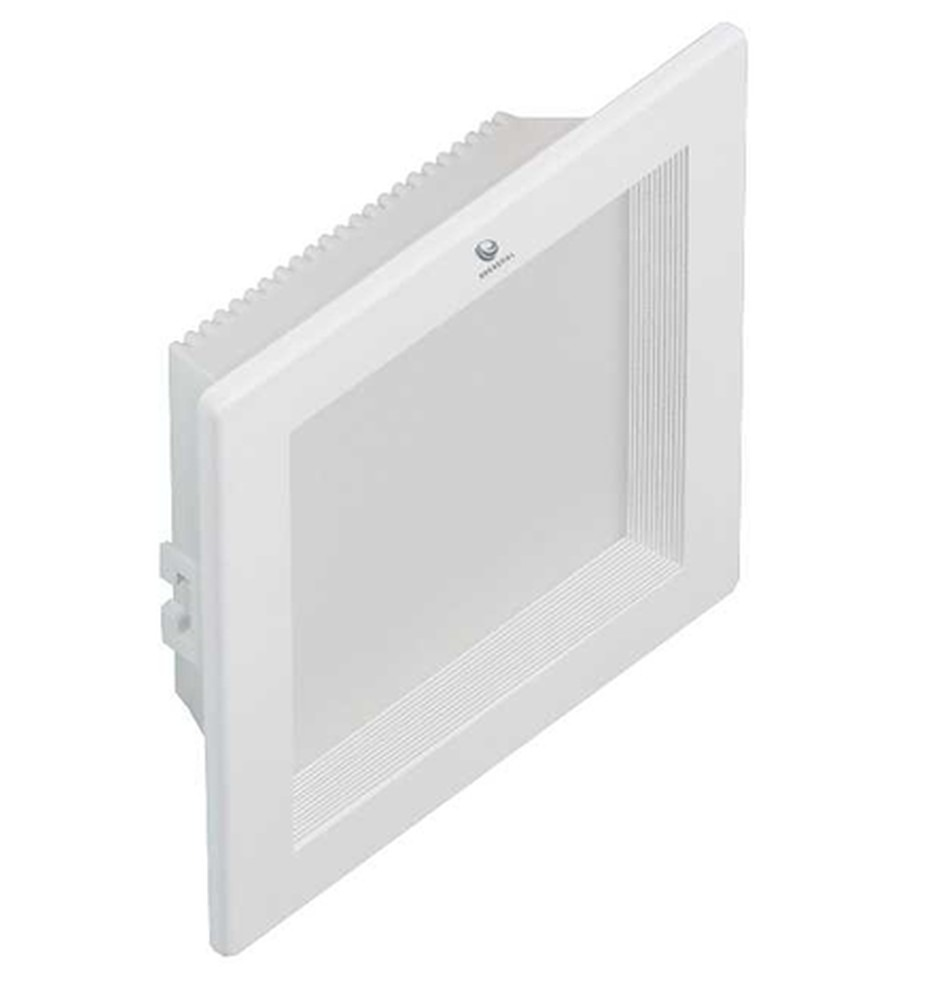 18 Watt LED Glacier Square Down Light - 180 mm, White