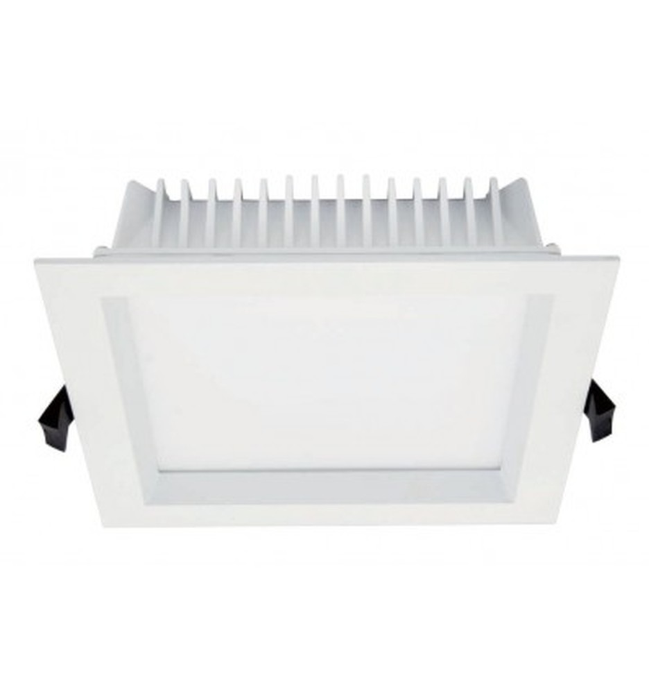 24 Watt Square LED Down Light - 195 mm, White
