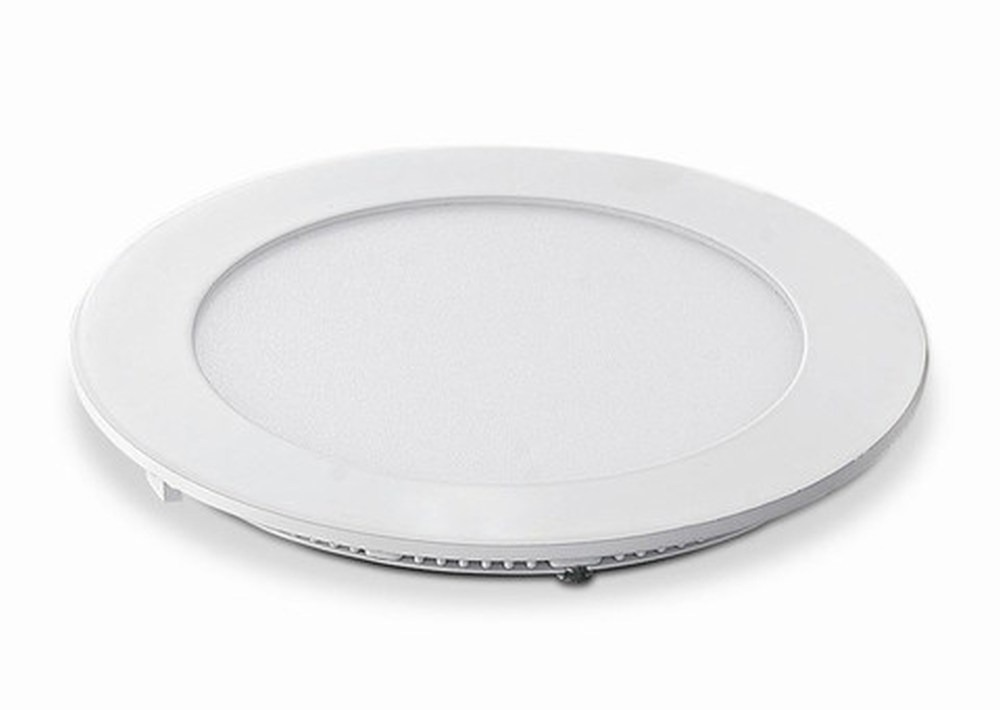 6 Watt LED Elite Round Panel Down Light - 115 mm, White