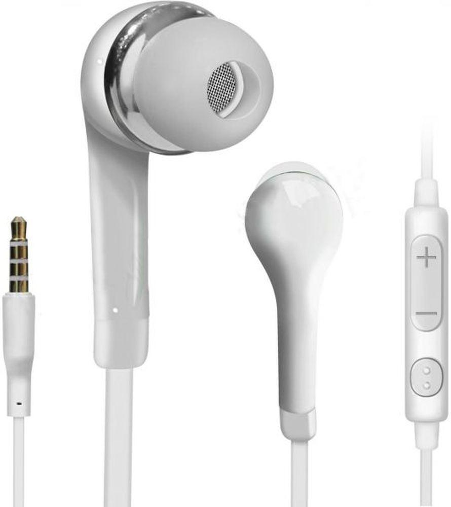 Earphone for Samsung Galaxy Core II Dual SIM SM-G355H - Handsfree, In-Ear Headphone, White