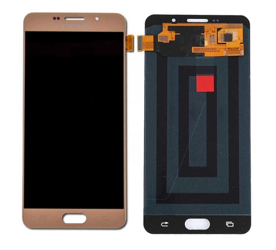 Lcd With Touch Screen For Samsung Galaxy A7 2016 Gold By - Maxbhi Com