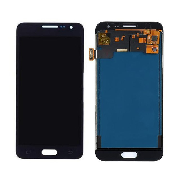 Lcd With Touch Screen For Samsung Galaxy J3 2016 Black By - Maxbhi Com