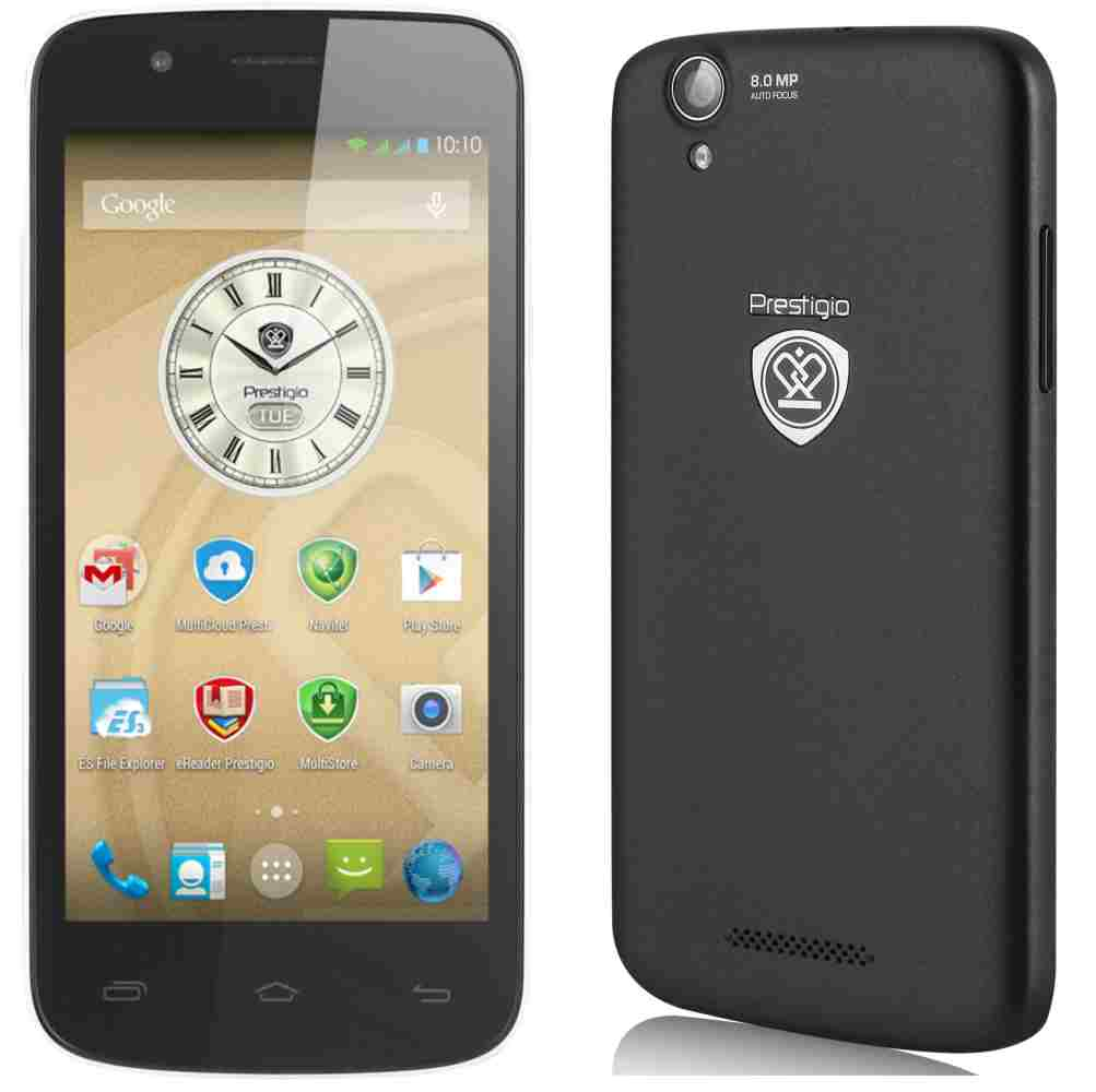 LCD with Touch Screen for Prestigio MultiPhone 5504 Duo - Black