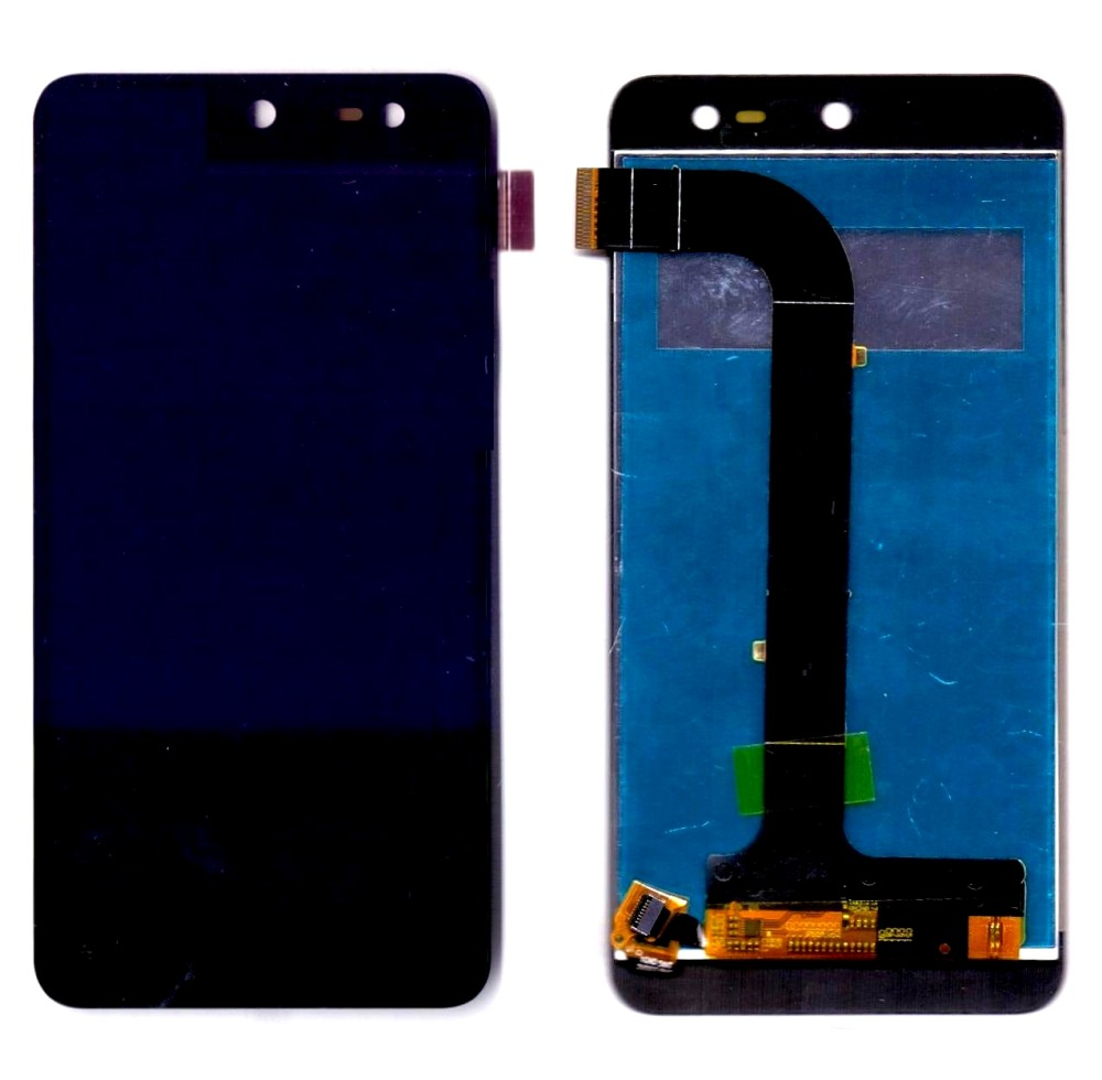Lcd With Touch Screen For Micromax Canvas Nitro 4g E455 Black By - Maxbhi Com