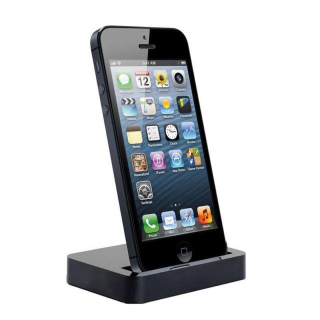 Mobile Holder For Apple iPhone 5 Dock Type Black