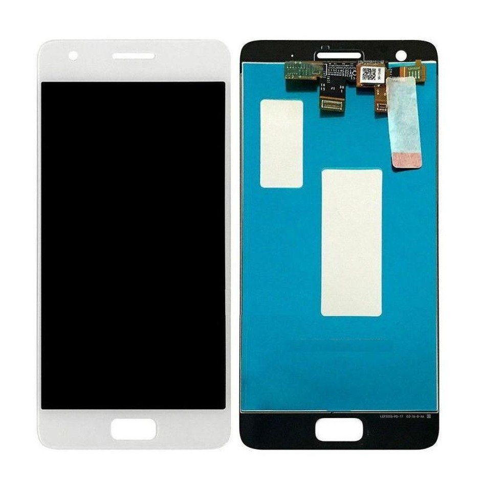 LCD with Touch Screen for Lenovo Z2 Plus 32GB - Zuk Z2 - White (display  glass combo folder)