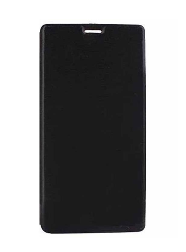 cheap for discount eb847 b0023 Flip Cover for Micromax Bolt Q381 - Black
