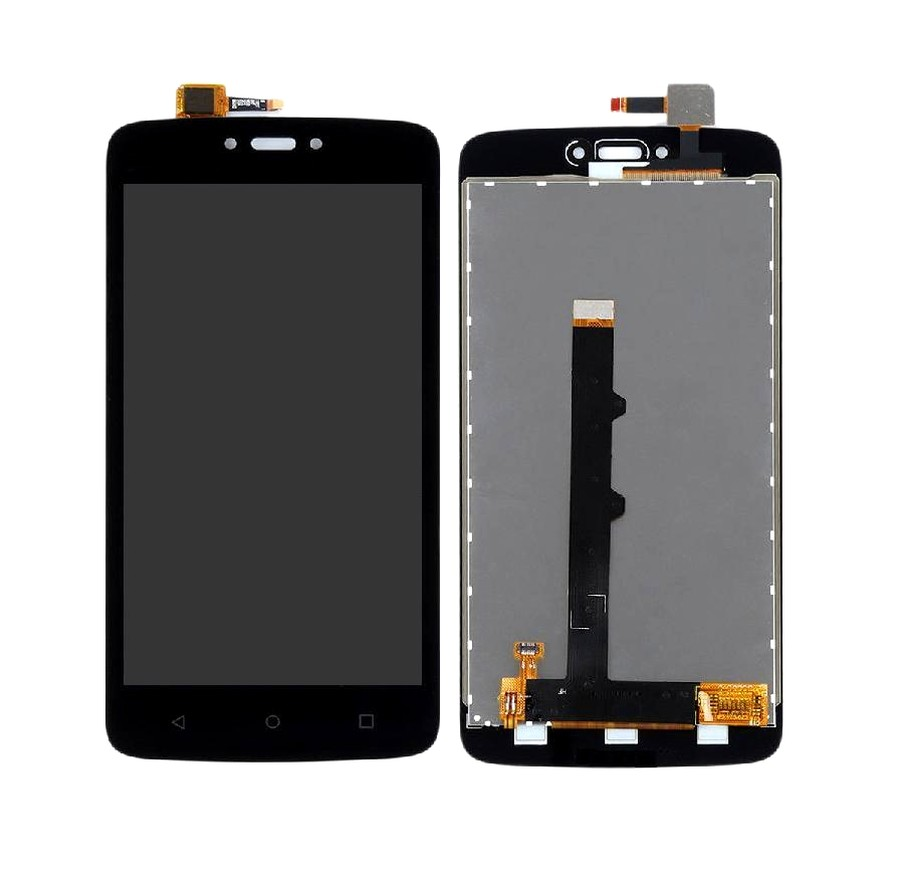 Lcd With Touch Screen For Moto C Black By - Maxbhi Com