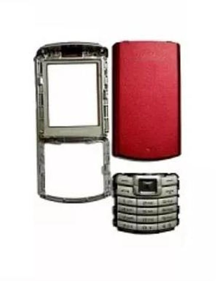 Full Body Housing for Samsung S3310 - Red & Silver
