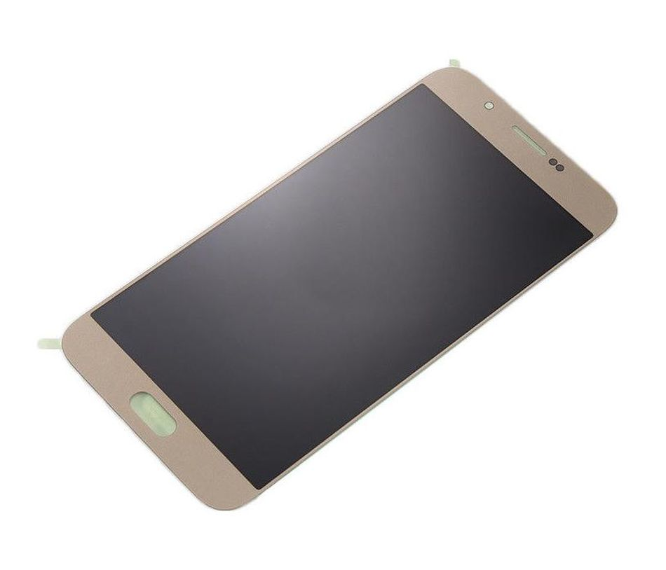 LCD with Touch Screen for Samsung Galaxy A8 - Gold (complete assembly folder)
