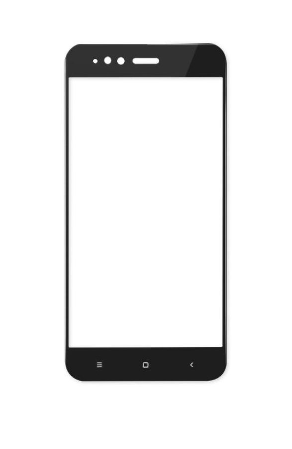 Replacement Front Glass For Xiaomi Mi A1 Black By - Maxbhi.com