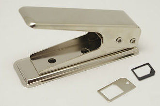Dual Sim Cutter For Apple iPhone 5, 5G with Micro & Nano Sim Adaptor