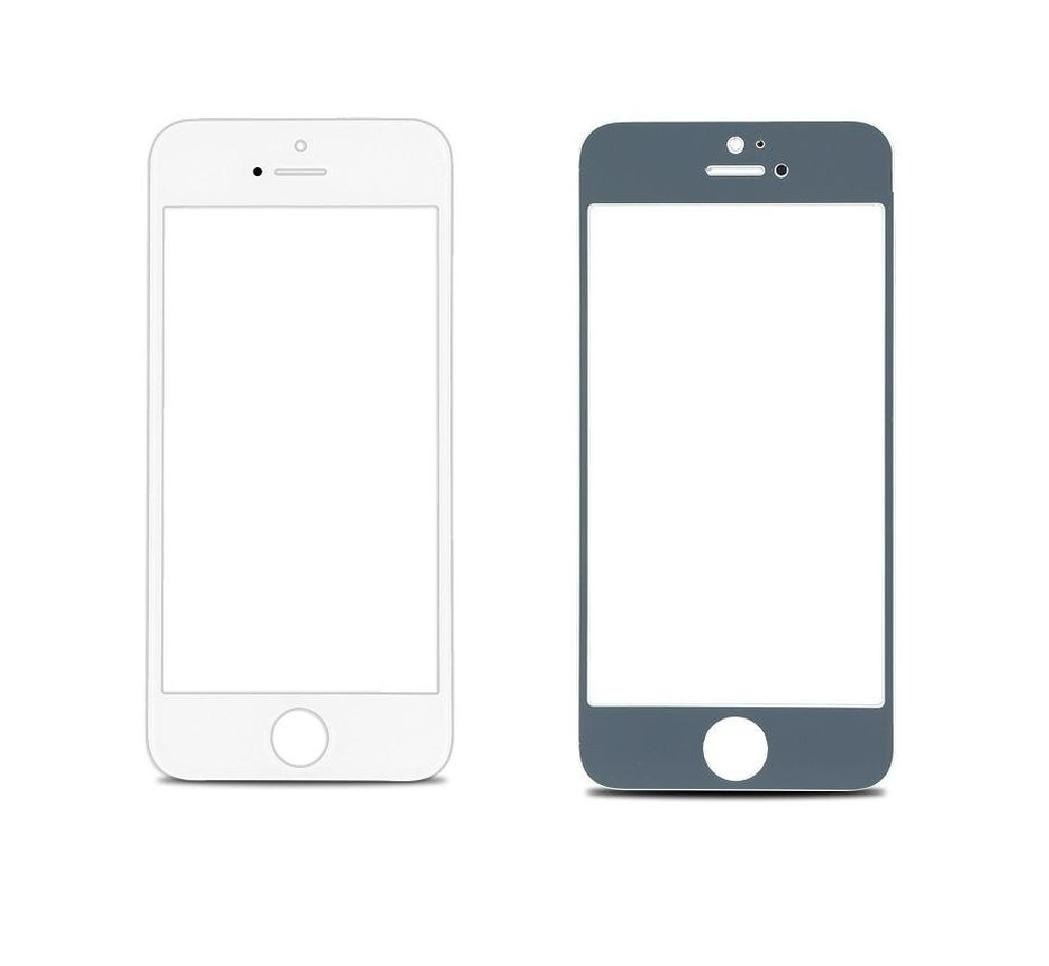 Replacement Front Glass For Apple Iphone 5 White By - Maxbhi Com