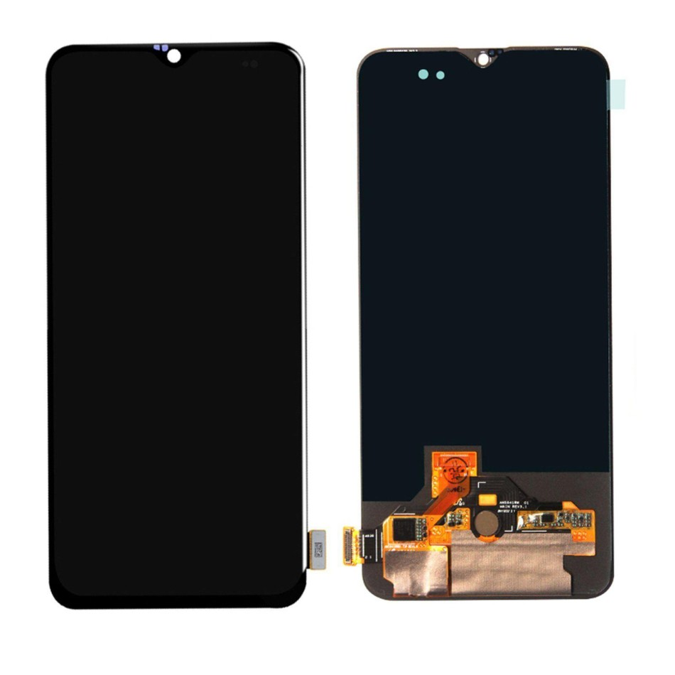 LCD with Touch Screen for OnePlus 6T - White (display glass combo folder)