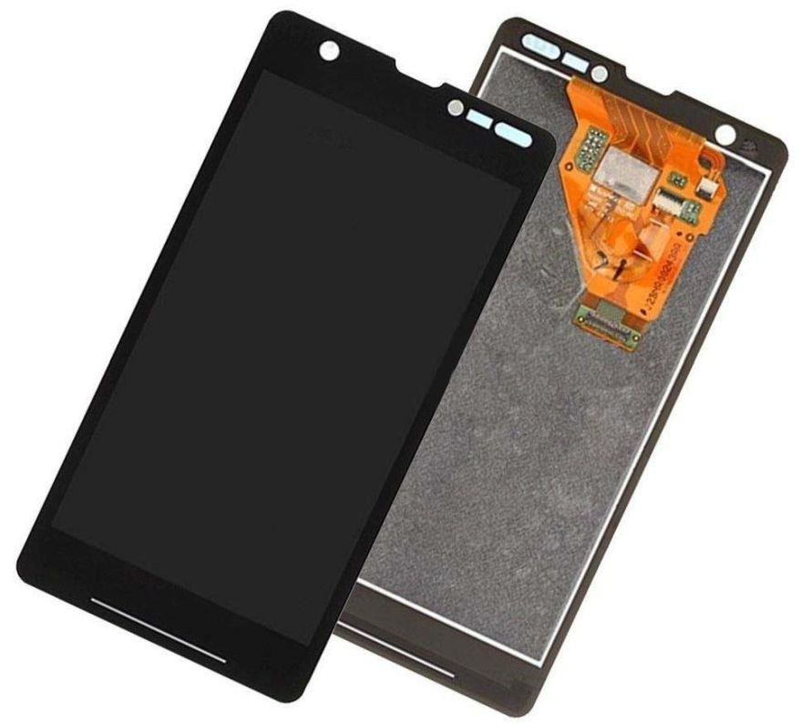Lcd With Touch Screen For Sony Xperia Zr Black By - Maxbhi Com