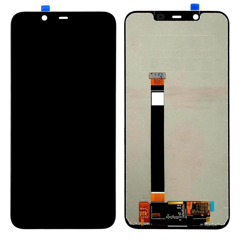 Lcd With Touch Screen For Nokia 8 1 Black By - Maxbhi Com