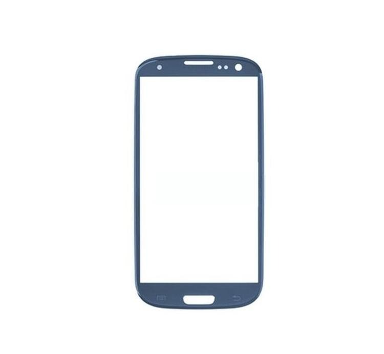 Replacement Front Glass For Samsung I9300 Galaxy S Iii Blue By - Maxbhi Com
