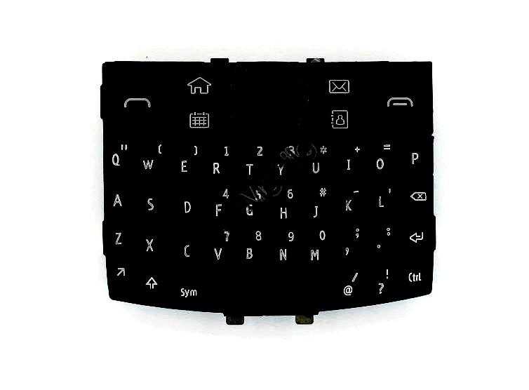 Keypad For Nokia E6 Dark Gray And Black - Maxbhi Com