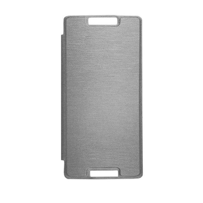 newest 4cd7f 50624 Flip Cover for Micromax Canvas Fire 4G Plus Q412 - Grey