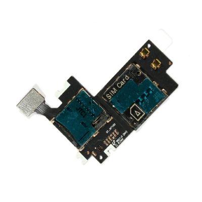 Mmc Connector With Sim Card Slot Flex Cable For Samsung Galaxy Note Ii 2 N7100maxbhi Com