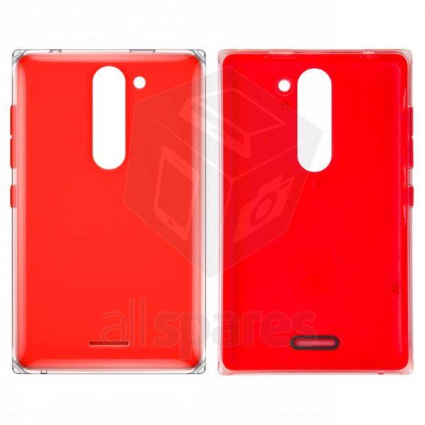 super cute d22b4 af908 Back Panel Cover for Nokia Asha 502 Dual SIM - Red