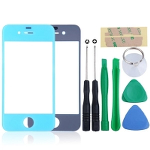 new arrival d45bc 6a5b4 Front Glass Lens For Apple iPhone 4s - Light Blue