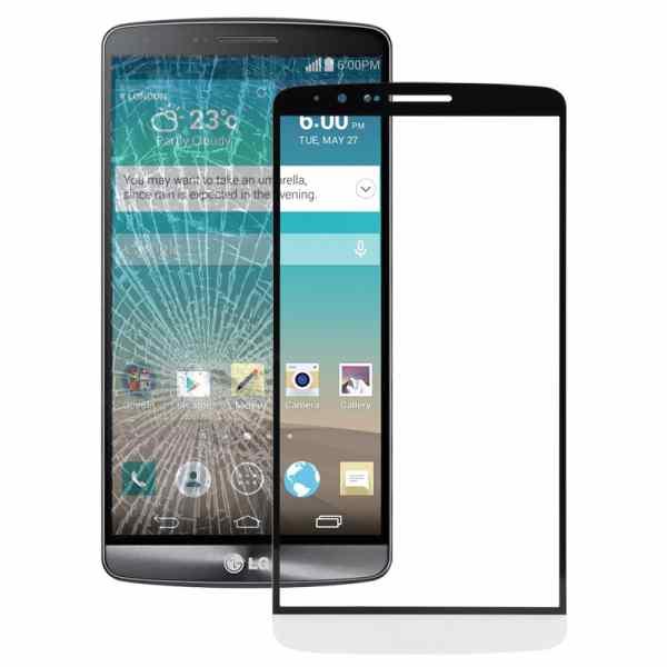 Front Glass Lens For LG G3 D855 - White