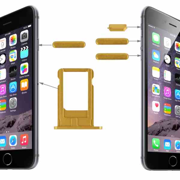 SIM Card Holder Tray for Apple iPhone 6 Plus - Gold