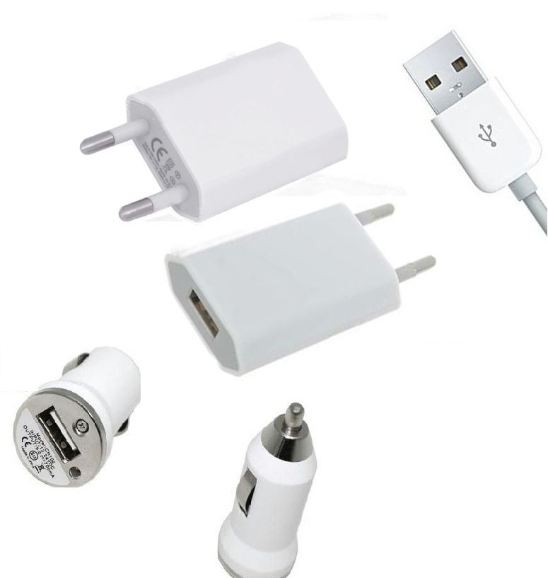 3 in 1 Charging Kit for Nokia Asha 210 Dual Sim with USB Wall Charger, Car Charger & USB Data Cable