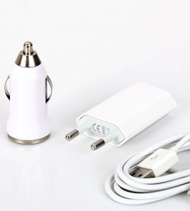 3 in 1 Charging Kit for Nokia X2 RM-1013 with USB Wall Charger, Car Charger & USB Data Cable