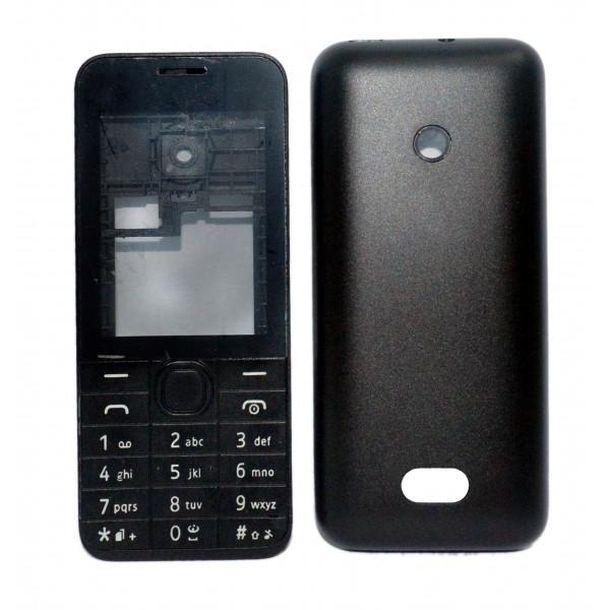 finest selection 38083 7b15a Full Body Housing for Nokia 208 Dual SIM - Black