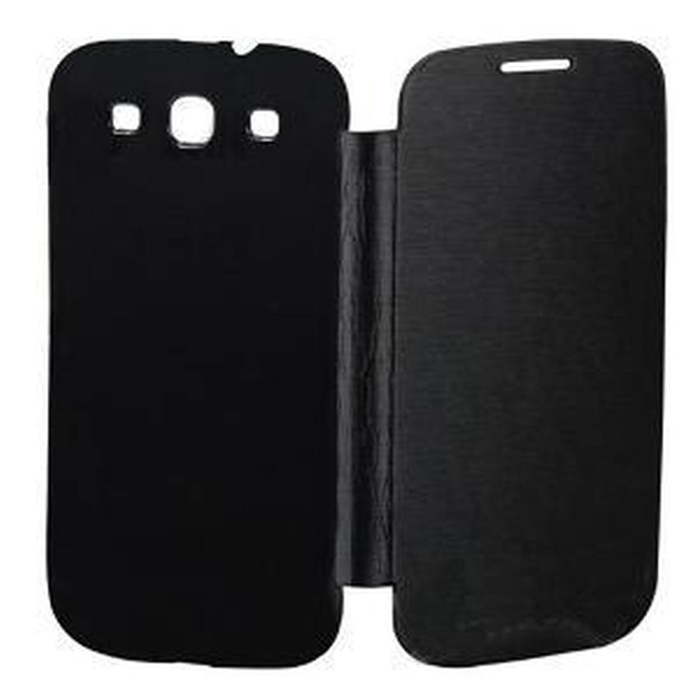 Flip Cover For Samsung Galaxy S3 Slim Black By Maxbhi Com