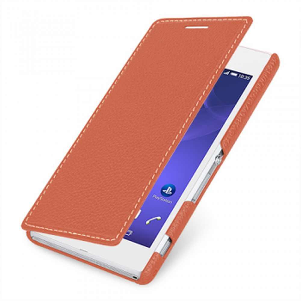 size 40 d1bb3 5061a Flip Cover for Sony Xperia M2 Aqua - Copper