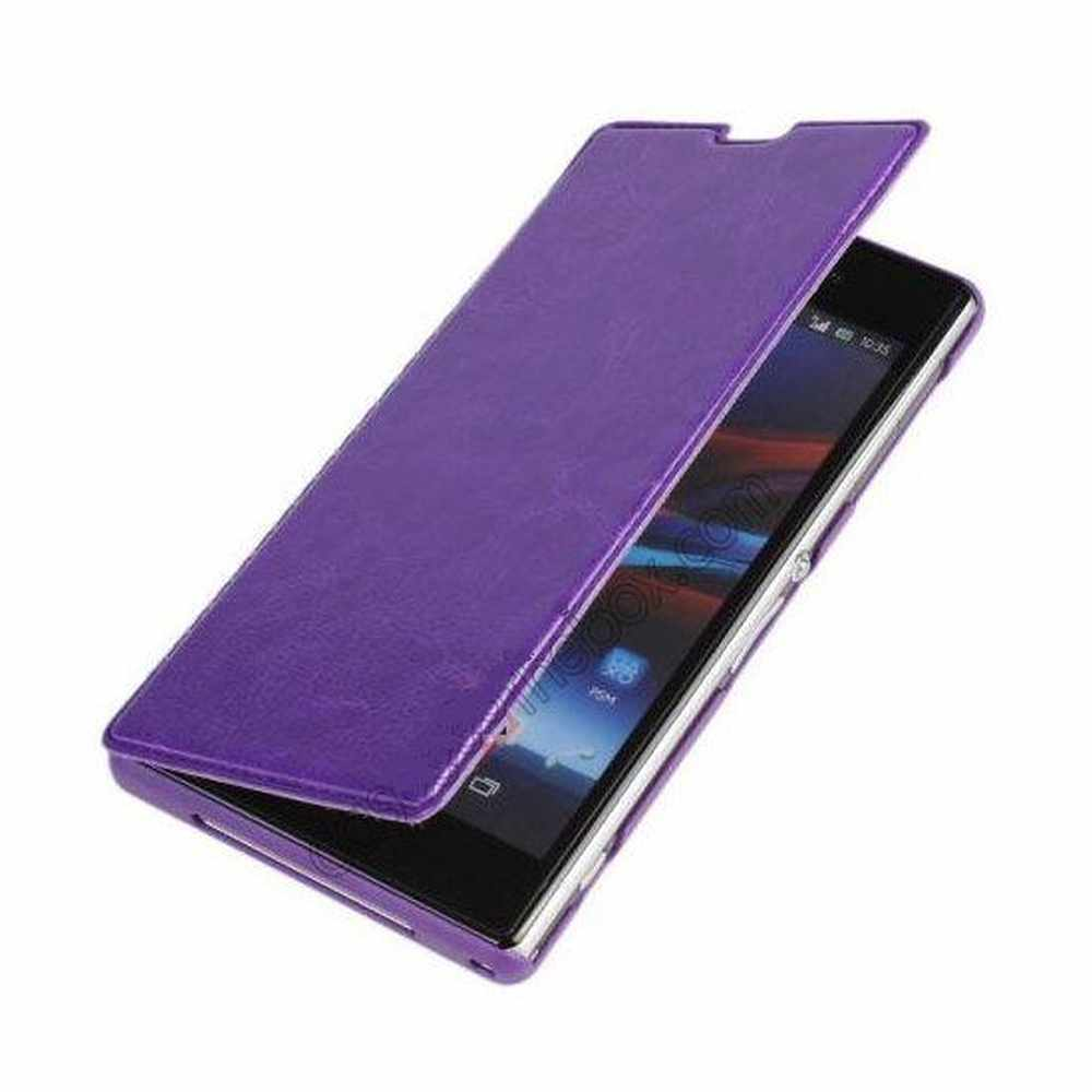 separation shoes 2f52b d4f64 Flip Cover for Sony Xperia Z Ultra LTE C6806 - Purple