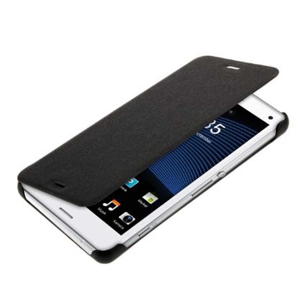 save off a5ec6 99828 Flip Cover for Sony Xperia Z3 Compact D5833 - Black
