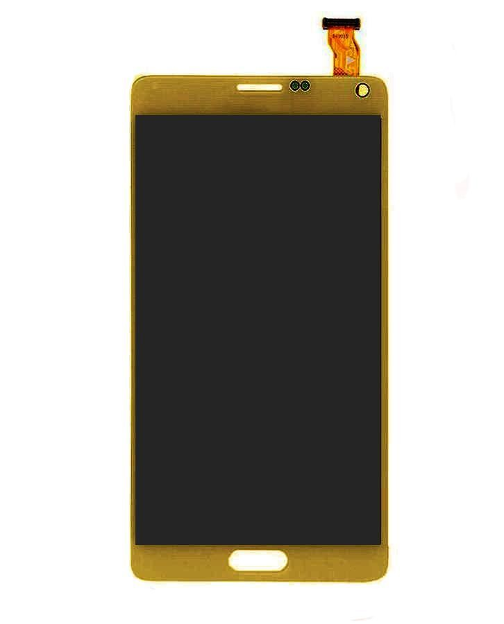 Lcd With Touch Screen For Samsung Galaxy Note 4 Duos Smn9100 Gold By - Maxbhi.com