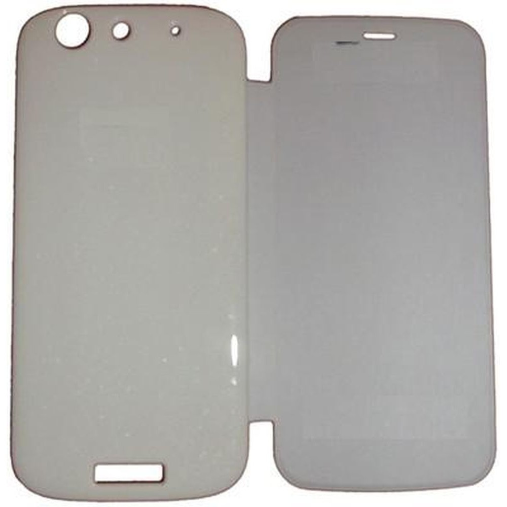 detailed look 4f3fc bdb31 Flip Cover for Micromax Canvas Gold A300 - White