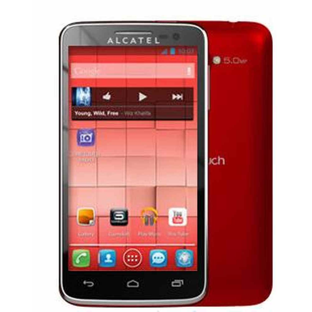LCD with Touch Screen for Alcatel One Touch X-Pop - Red (display glass  combo folder)
