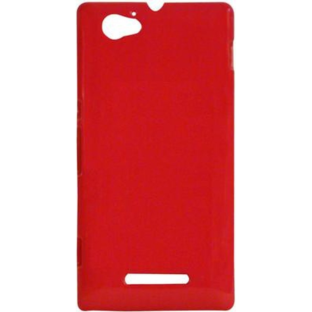 buy online 6844a 8fee6 Back Case for Sony Xperia M C1905 Red