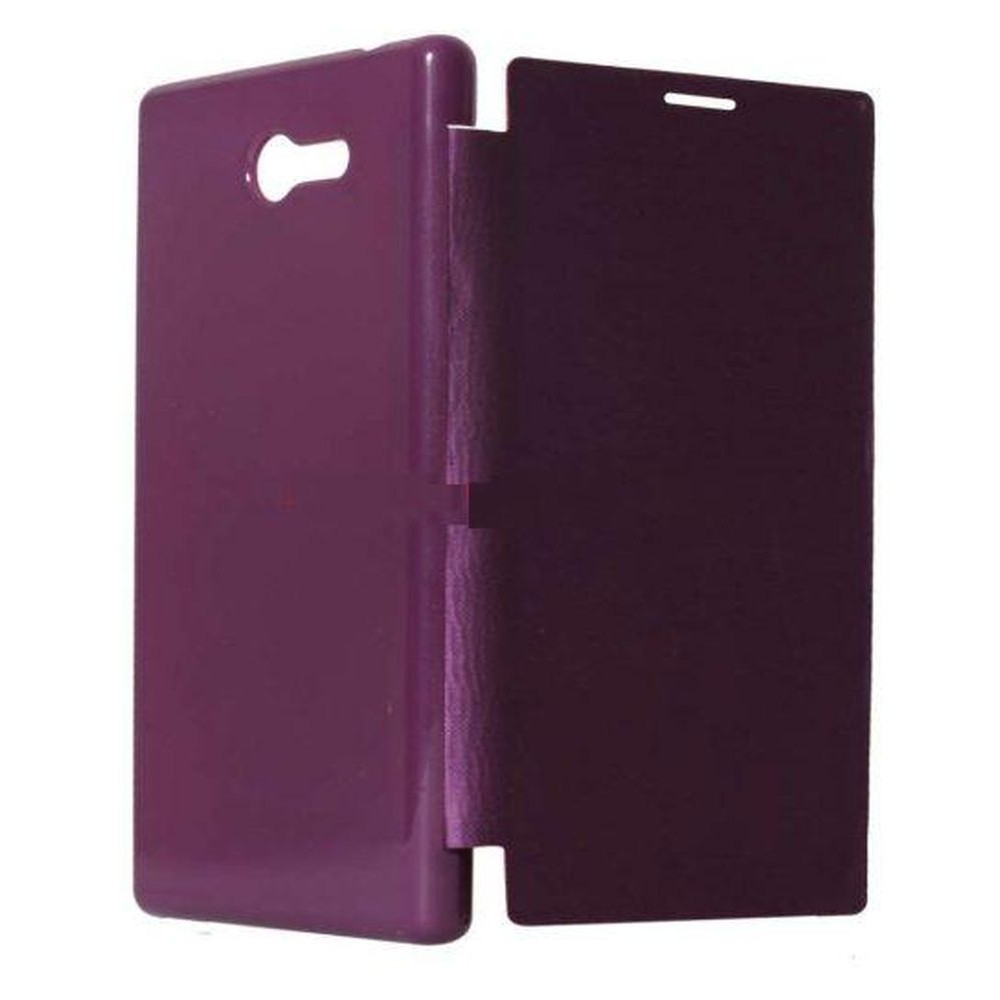 on sale dcaef 0c045 Flip Cover for Sony Xperia T2 Ultra dual SIM D5322 - Purple