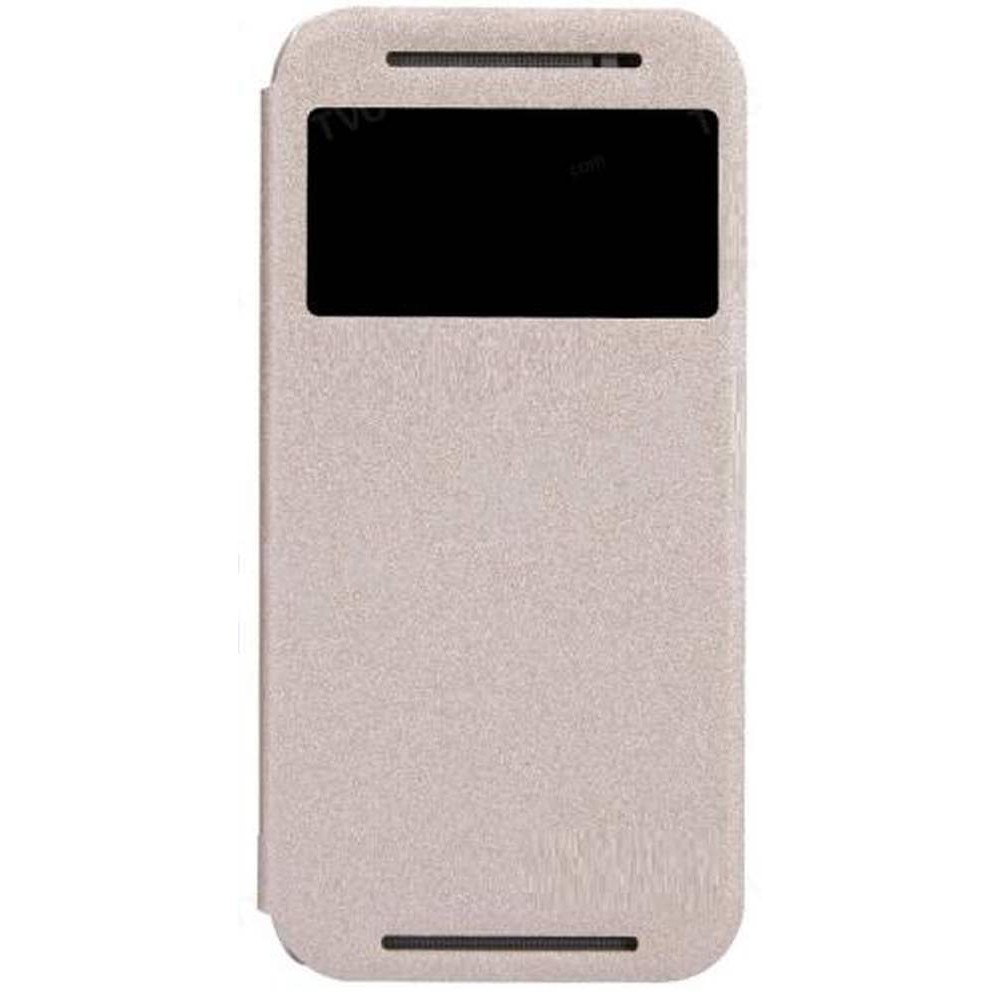 detailed look 4400e 4ad54 Flip Cover for HTC One - M8 - Gold