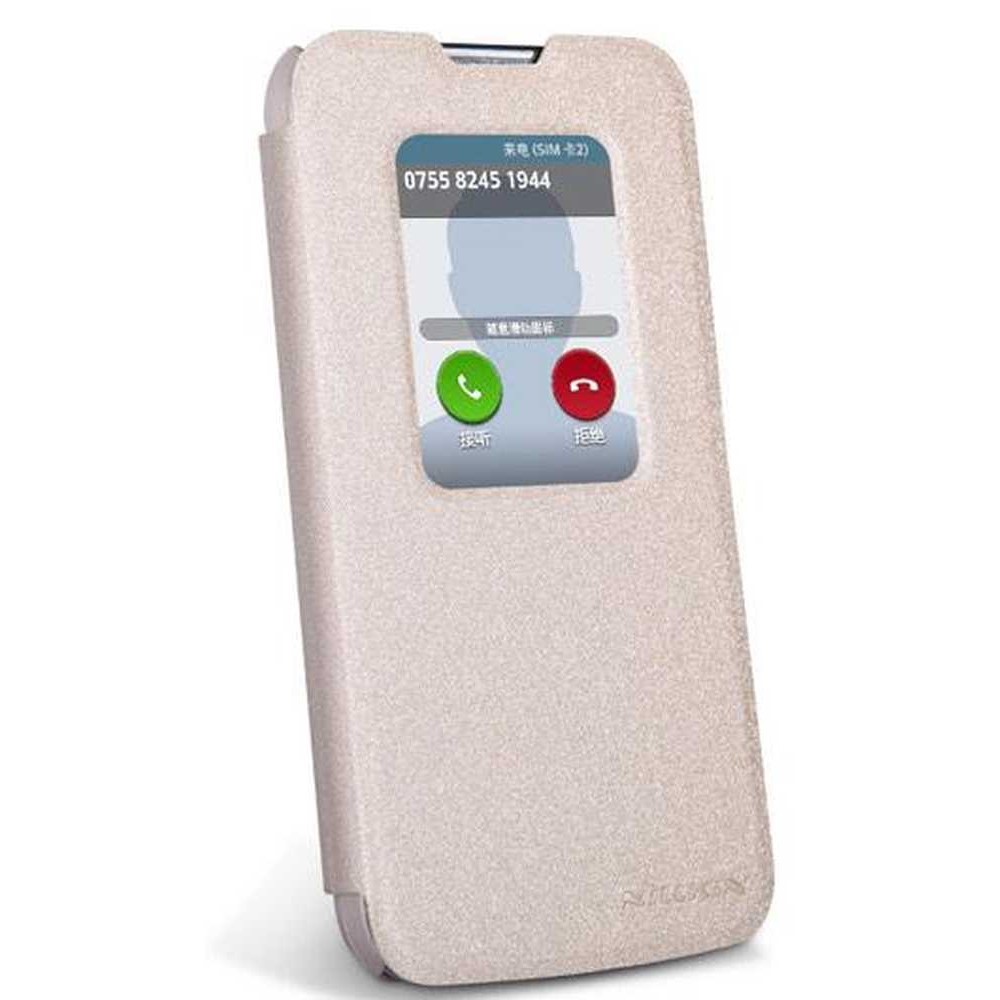 reputable site 23646 cd467 Flip Cover for LG L90 Dual D410 - Gold