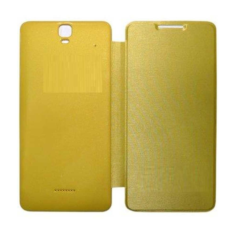 sports shoes 657d7 2f1ff Flip Cover for Micromax A190 Canvas HD Plus - Yellow