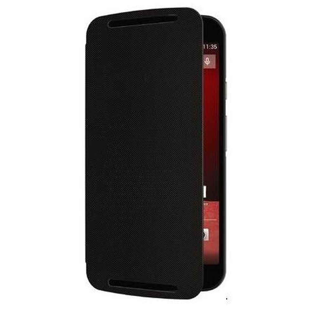 free shipping 67c7d f3460 Flip Cover for Motorola Moto G - 2nd Gen - Black