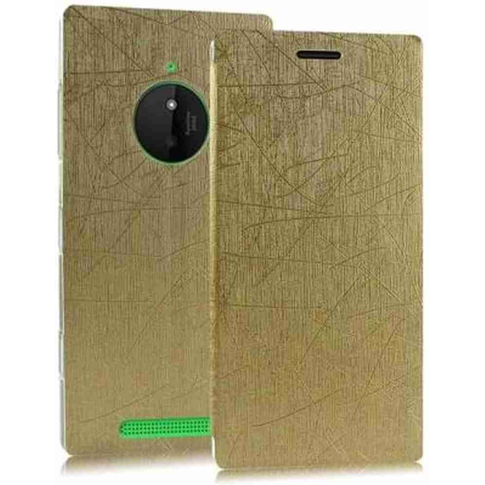 online retailer dd3db 05266 Flip Cover for Nokia Lumia 830 RM-984 - Gold