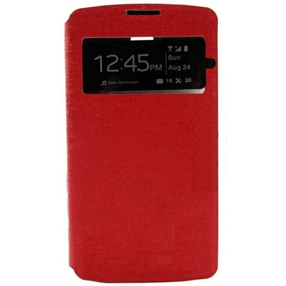 new arrival 742cf f6e2b Flip Cover for Oppo R2001 Yoyo - Red