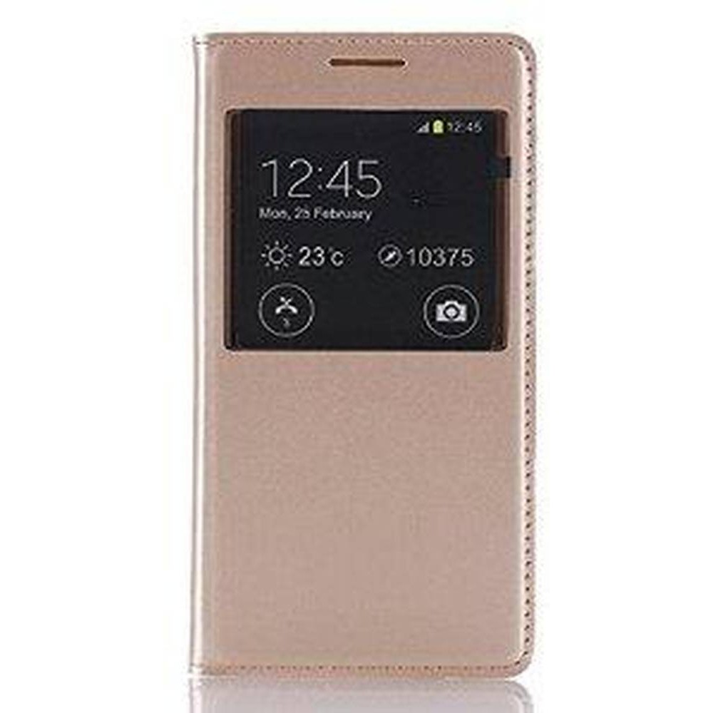 online store 8f076 0af77 Flip Cover for Samsung Galaxy A5 SM-A500G - Gold