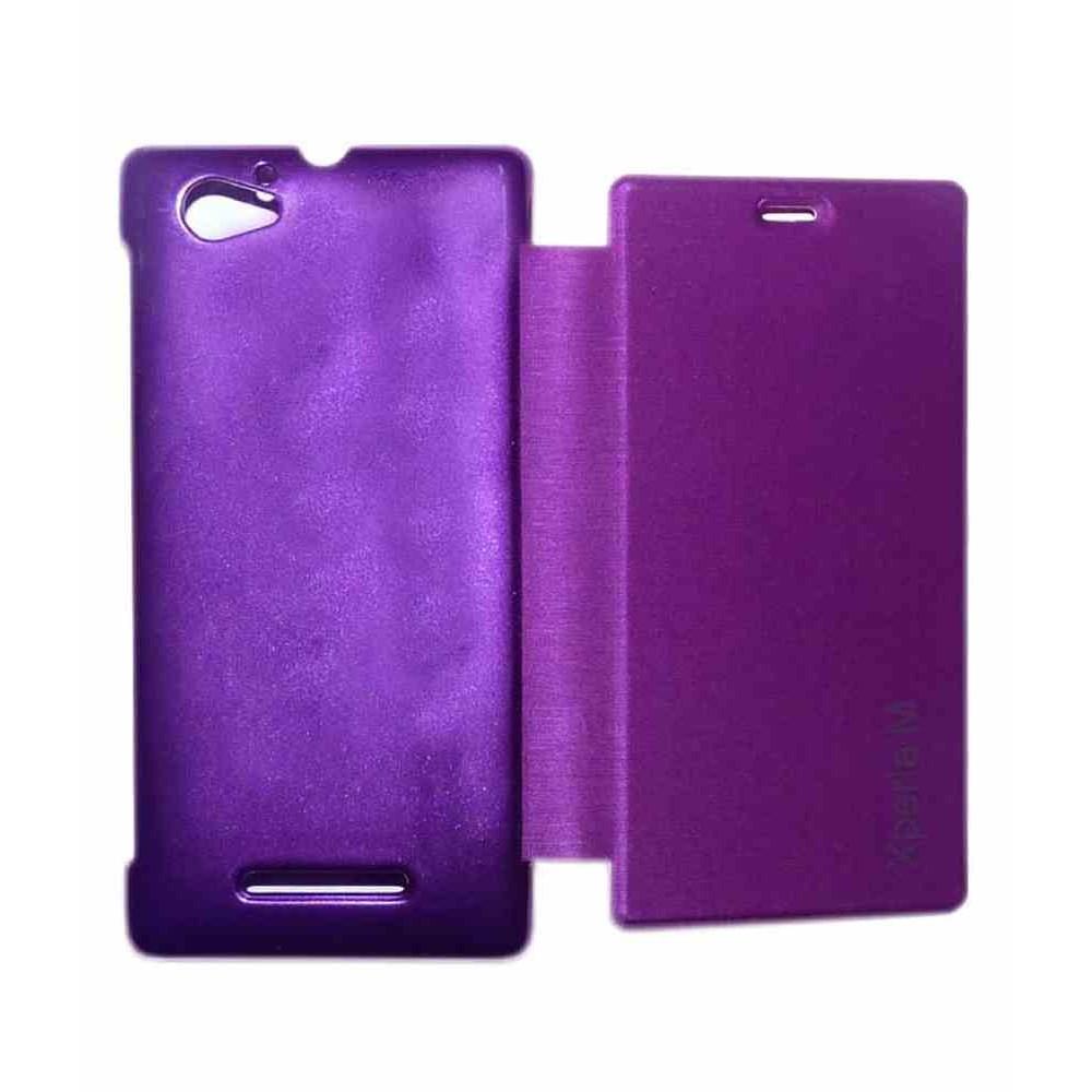 timeless design b5e49 9444b Flip Cover for Sony Xperia M C2005 - Purple